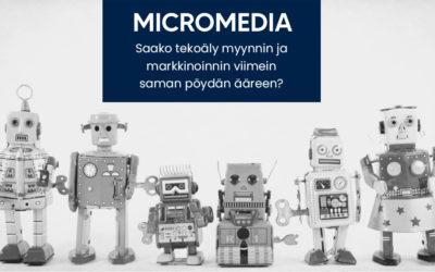 Tekoäly - myynti - markkinointi - MicroMedia Oy
